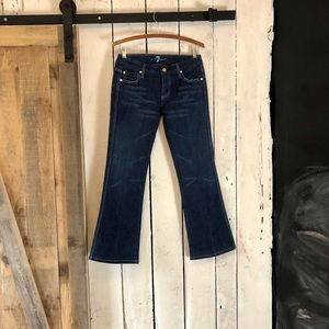 NWOT 7 for all mankind b(air) boot cut dark jeans